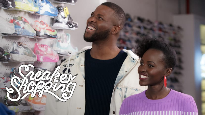 Lupita Nyong'o And Winston Duke Go Sneaker Shopping With Complex | Sneaker Shopping