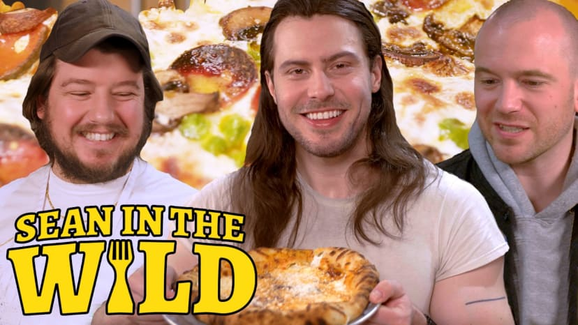 Andrew W.K. and Sean Evans Recreate Pizza Hut Classics   Sean in the Wild