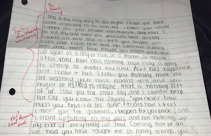 College Student Suspended for Grading ExGirlfriends Apology Letter