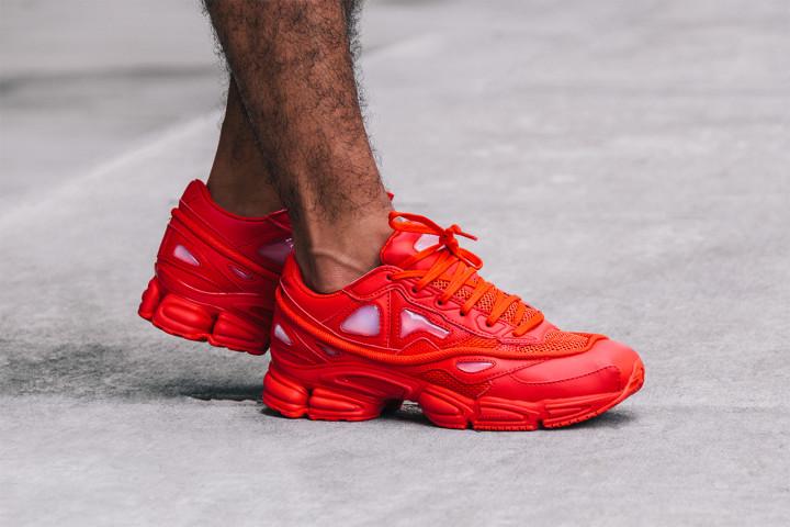 san francisco 4ef4b 61557 Raf Simons x adidas Ozweego II Red | Complex