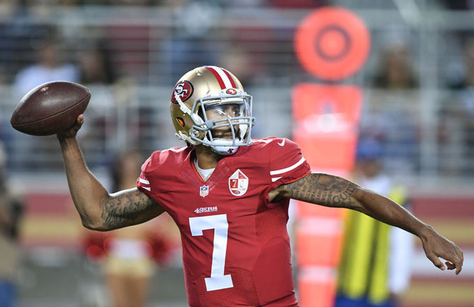 premium selection 06326 e27ed Colin Kaepernick's Jerseys Are Selling Fast Since His ...