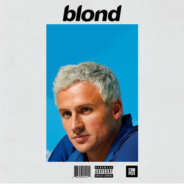 Ryan Lochte fake Blonde album cover.