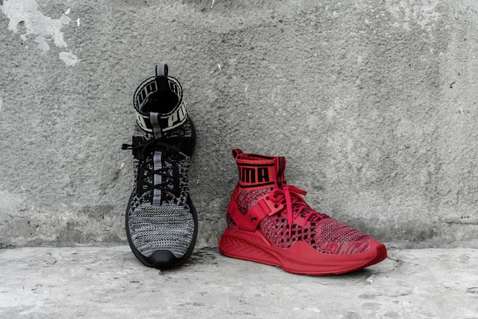 Puma Promo Post Black and Red Shoes