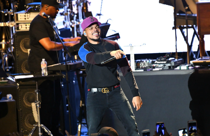 Musician Chance the Rapper performs onstage during the Mac Miller: A Celebration of Life