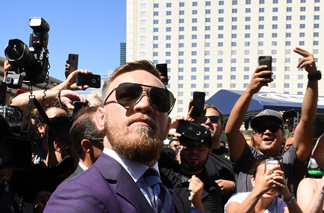 Conor McGregor arrives at Toshiba Plaza
