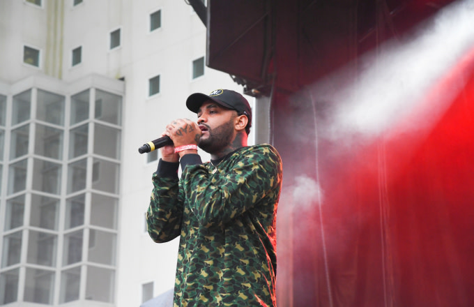 Joyner Lucas performs onstage in concert during 2017 A3C Festival