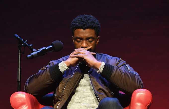 Chadwick Boseman Lifeless Wakanda Salute