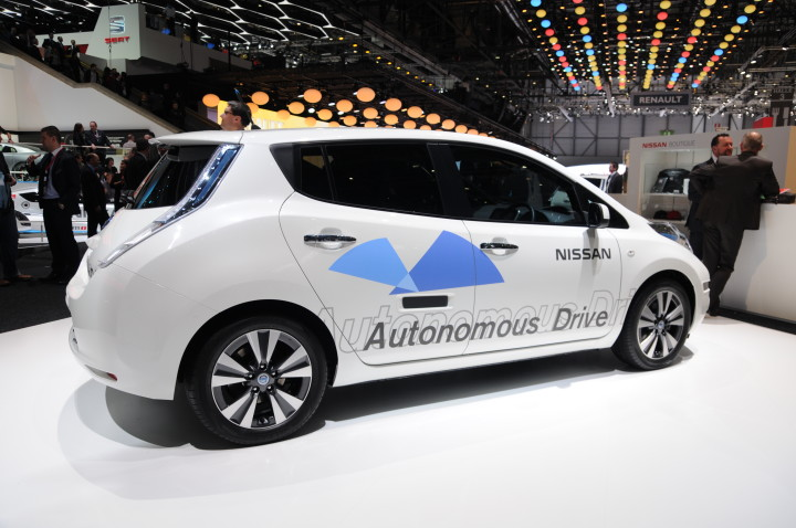 Photo of an autonomous car from Wikimedia Commons.