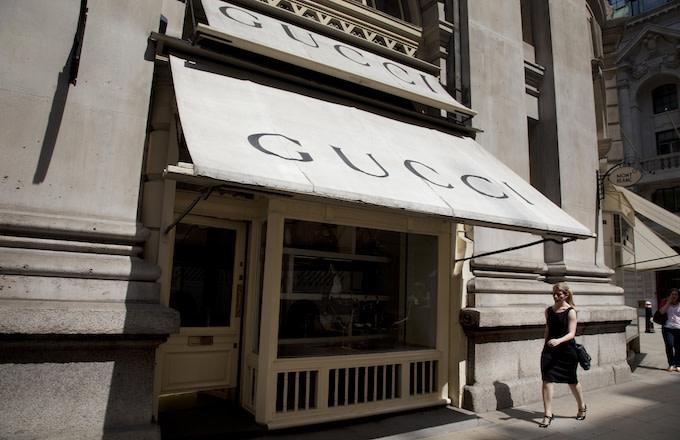 A Gucci store.