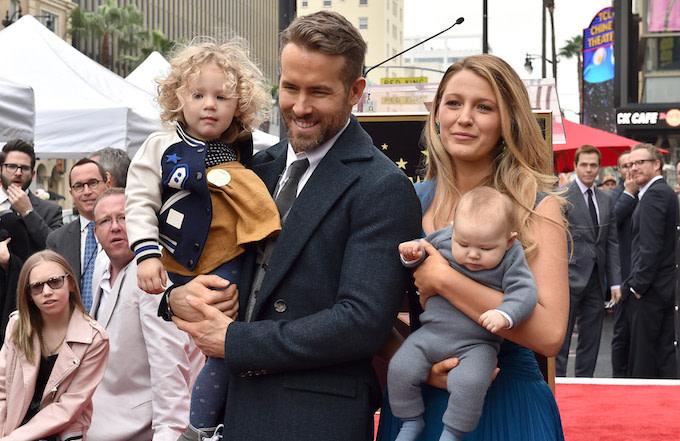Ryan Reynolds, Blake Lively, and their kids