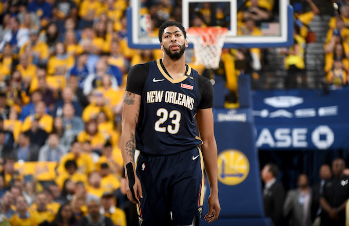 Anthony Davis #23 of the New Orleans Pelicans.
