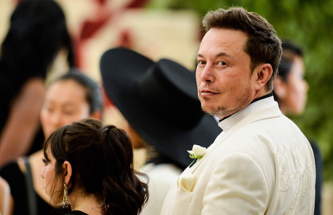 Elon Musk at the 2018 Met Gala.