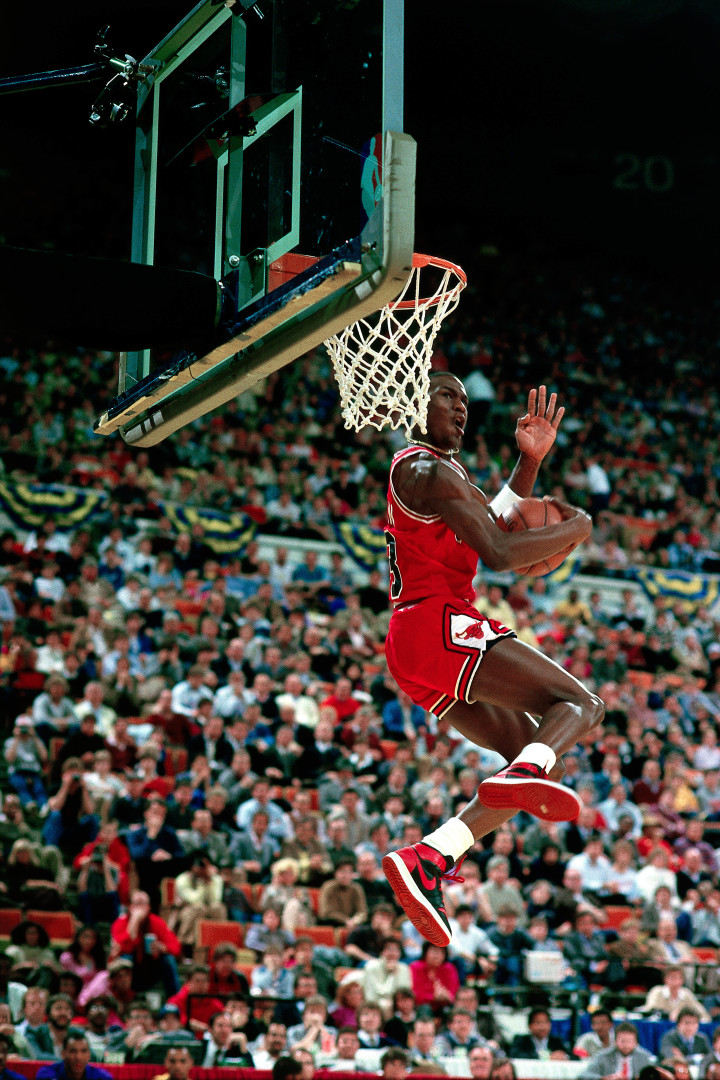 big sale ba1a5 8d4ea The History of Michael Jordan's Banned Sneakers | Complex