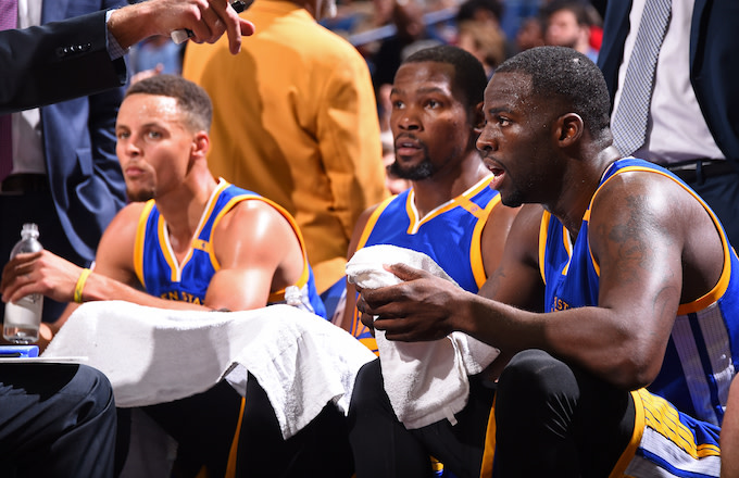 Steph Curry, Kevin Durant, Draymond Green