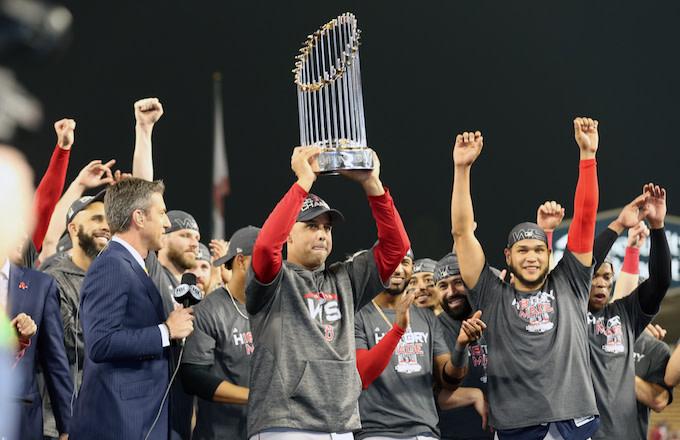Alex Cora, Boston Red Sox World Series Champions