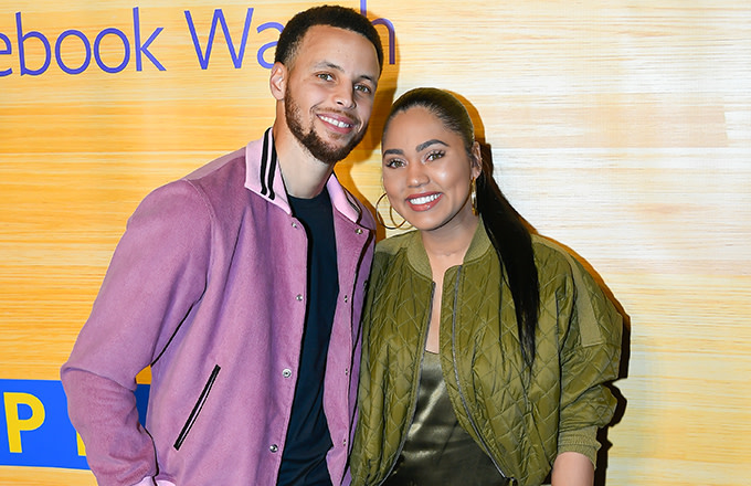 Ayesh and Steph Curry