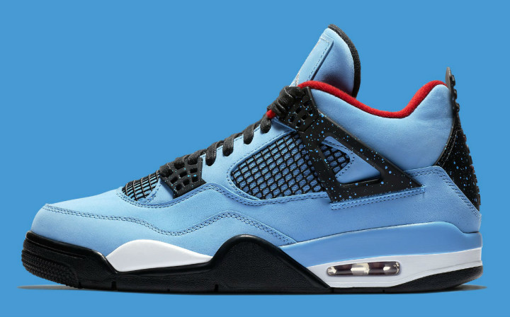 Travis Scott x Air Jordan 4 IV Oilers Data de Lançamento 308497-406