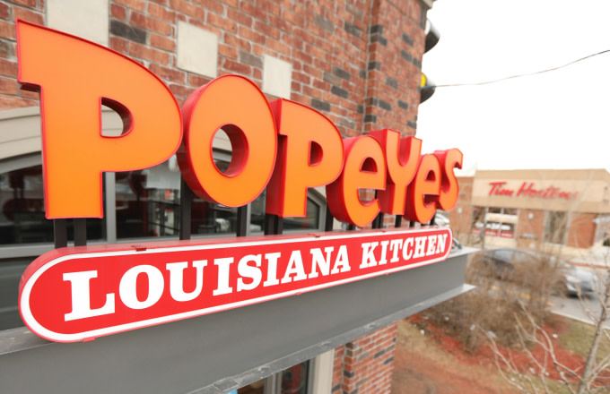 Popeyes chain of chicken restaurants