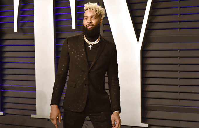 Odell Beckham at the Vanity Fair post-Oscars party
