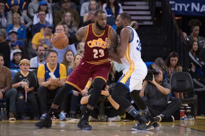 LeBron James Kevin Durant Cavs Warriors 2017