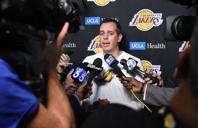 Lakers coach Frank Vogel