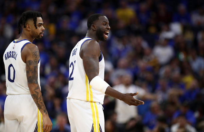 D'Angelo Russell and Draymond Green