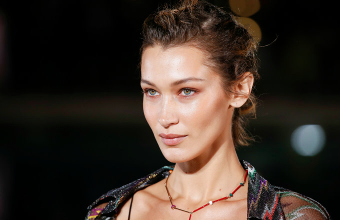 Model Bella Hadid at the Missoni show