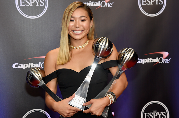 Chloe Kim at the 2018 ESPYs.
