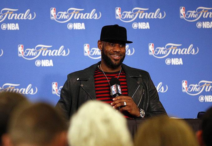 lebron james podium