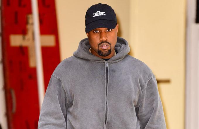 Kanye West captured by paparazzi.