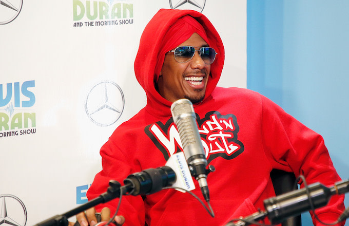 Nick Cannon visits 'The Elvis Duran Z100 Morning Show' at Z100 Studio on August 21, 2018.