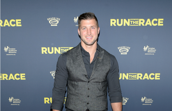 Tim Tebow attends the premiere of Roadside Attractions' 'Run The Race'