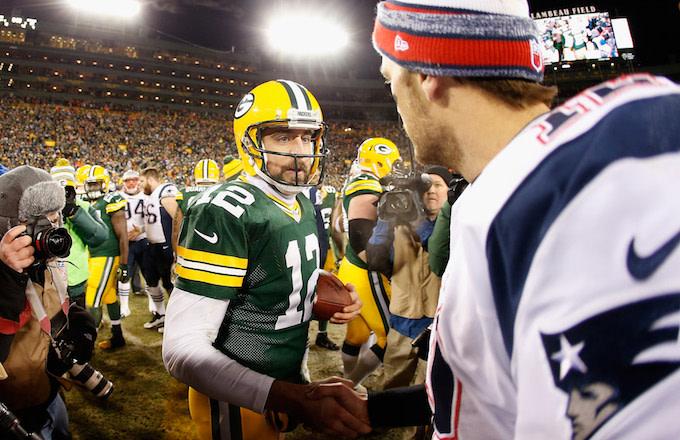 Aaron Rodgers, Tom Brady
