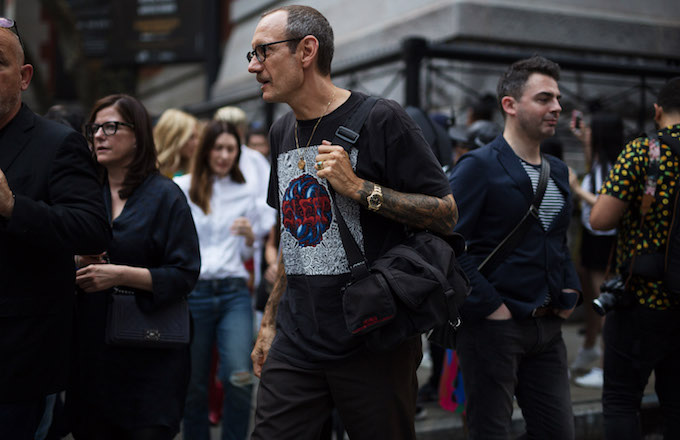 This is Terry Richardson at New York Fashion Week.