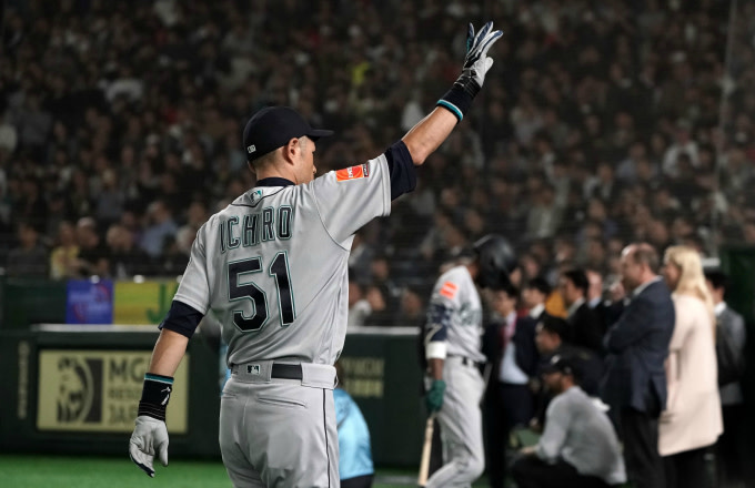 Outfielder Ichiro Suzuki #51 of the Seattle Mariners