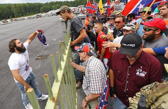 Burn Confederate Flag