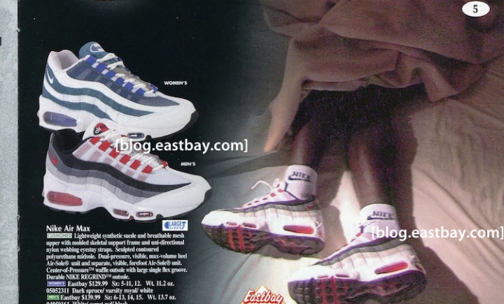 new style c30c2 d7a78 Air Max 95  140. Image via Eastbay