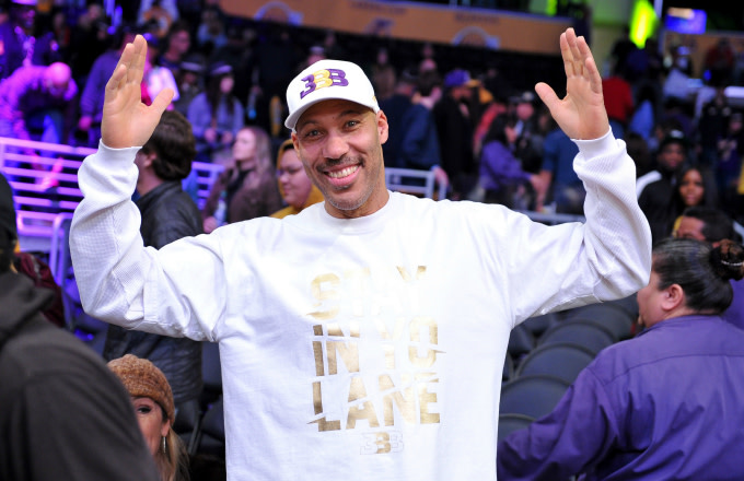LaVar Ball attends a basketball game