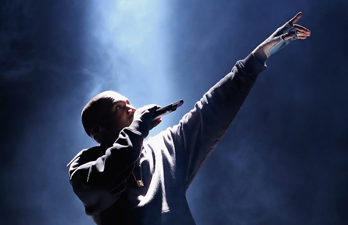 Kanye West performs at the Rn. 1st Annual Roc City Classic