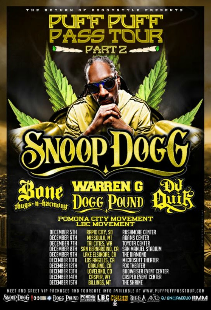 Snoop Dogg's Puff Puff Pass Tour Part 2.
