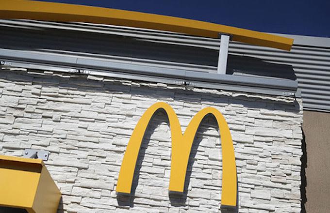 McDonald's logo outside of restaurant.
