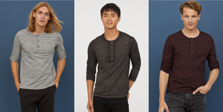 8 Fall Essentials Available at HM Right Now - Cotton Jersey Henley Shirt