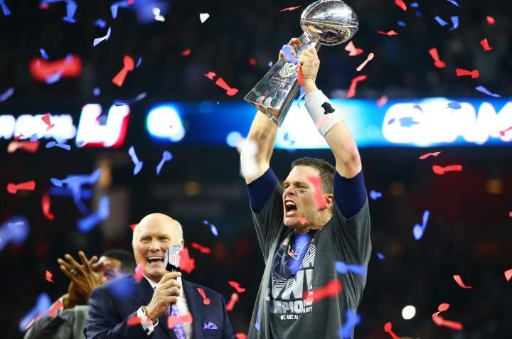 Tom Brady Super Bowl LI Vince Lombardi Trophy