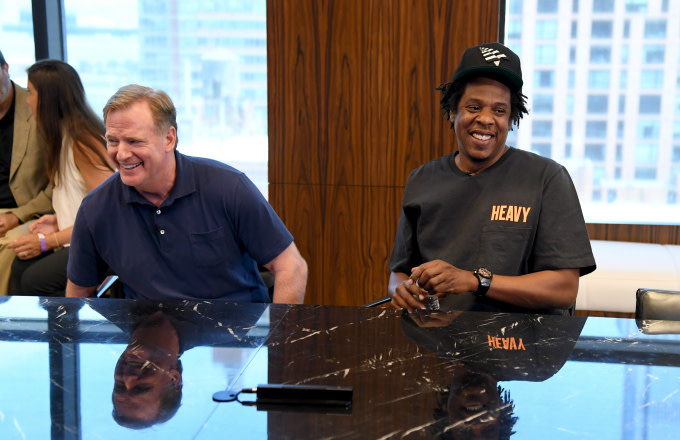 NFL Commissioner Roger Goodell and Jay Z