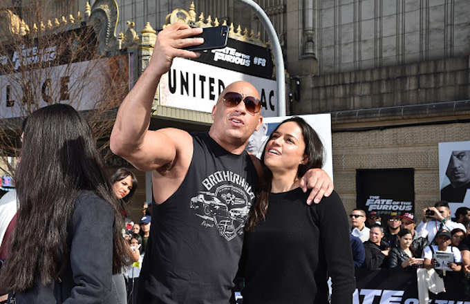 Vin Diesel and Michelle Rodriguez visit Washington Heights
