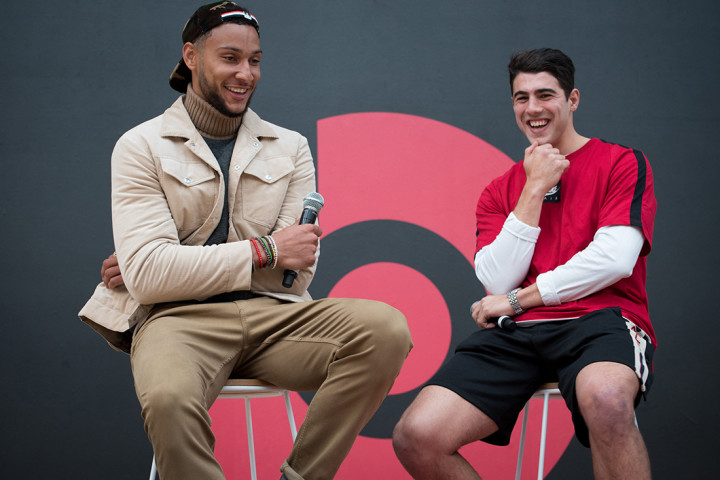 Ben Simmons and Christian Petracca at Box Hill Senior Secondary