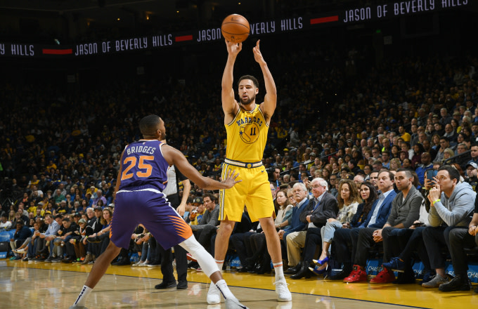on sale e16dd 488c1 Klay Thompson Say Warriors' Home Crowd Needs to Be a 'Little ...