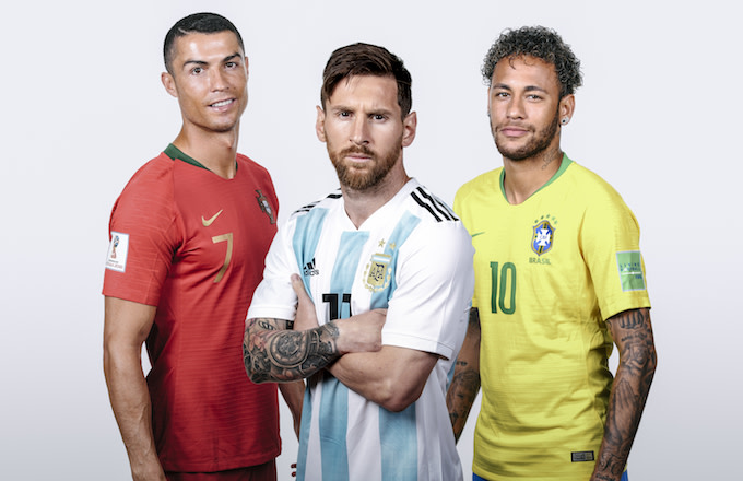 Christiano Ronaldo, Lionel Messi, Neymar