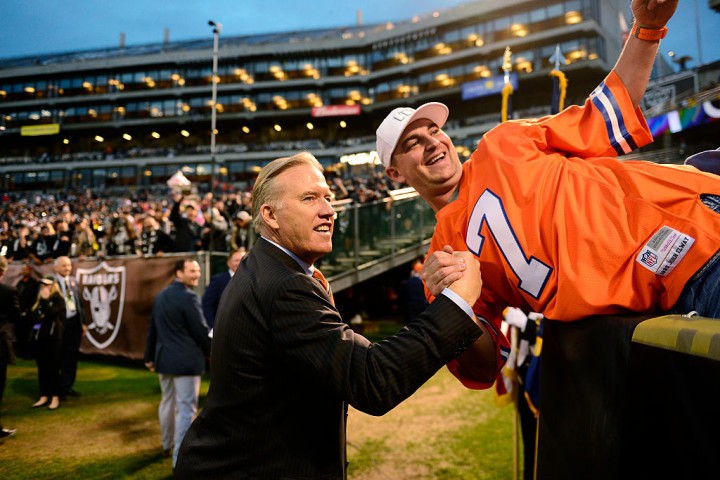 John Elway Broncos Raiders Oakland 2016