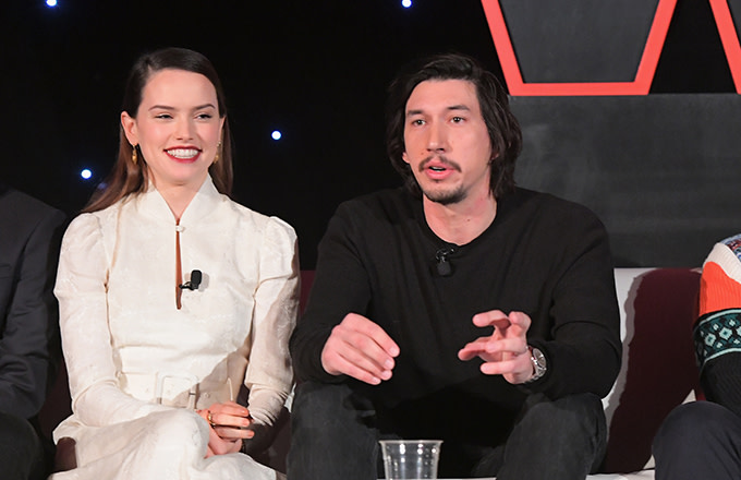 Adam Driver and Daisy Ridley